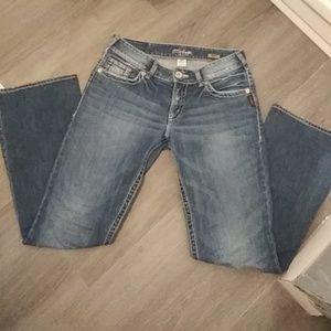 Woman's SILVER Suki Boot Cut Jeans Size 29x32